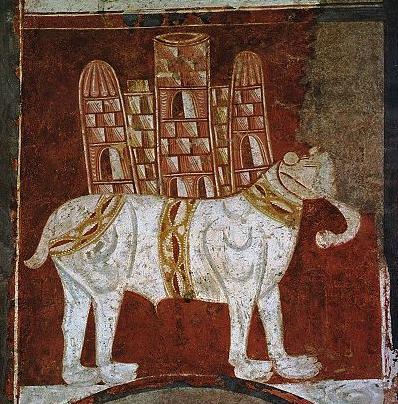 400px-Elephant_and_Castle_(Fresco_in_San_Baudelio,_Spain)