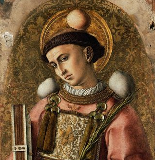 1476 --- The Demidoff Altarpiece: Saint Stephen --- Image by © National Gallery Collection; By kind permission of the Trustees of the National Gallery, London/CORBIS